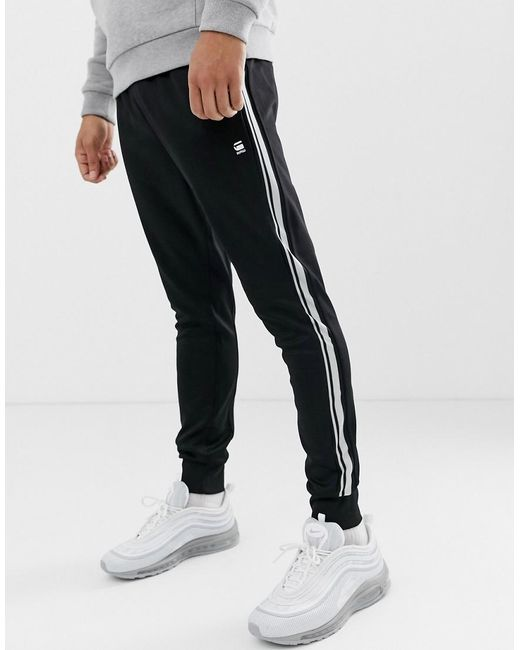 32ab0da14 G-Star RAW - Alchesai Slim Fit Sweat joggers In Black for Men - Lyst ...