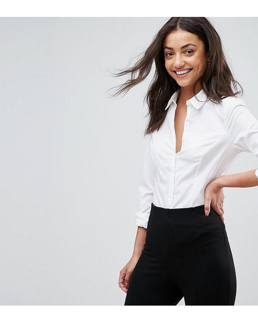 White Asos Lyst Shirt Fitted Cotton In Stretch dBWrxoeCQ