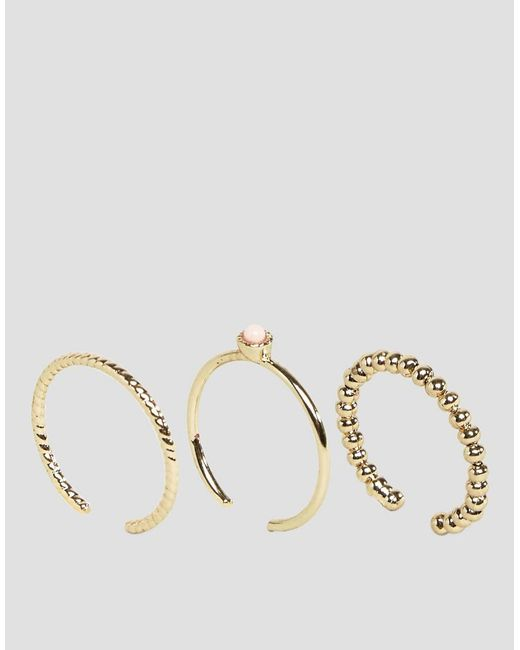 Pieces | Multicolor Stack Rings | Lyst