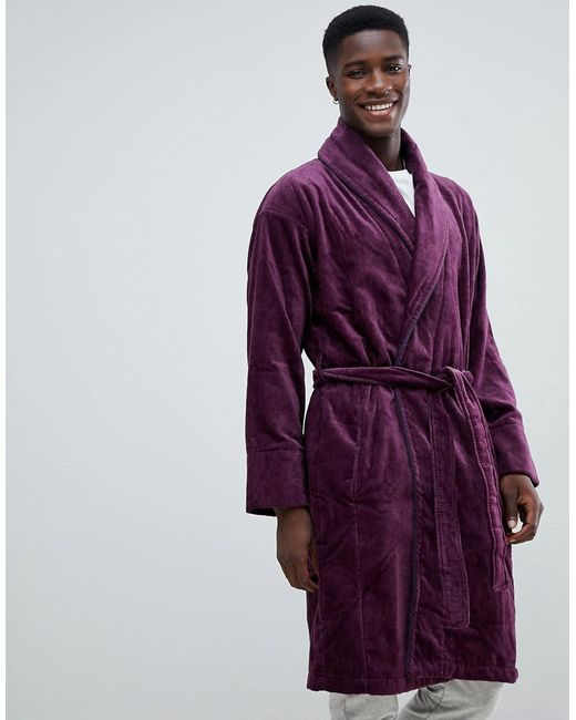 Ted Baker Dressing Gown in Purple for Men - Lyst