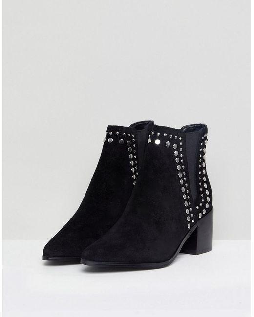 Kiralia Studded Leather Ankle Boot - Black Aldo OJHjWXkQ