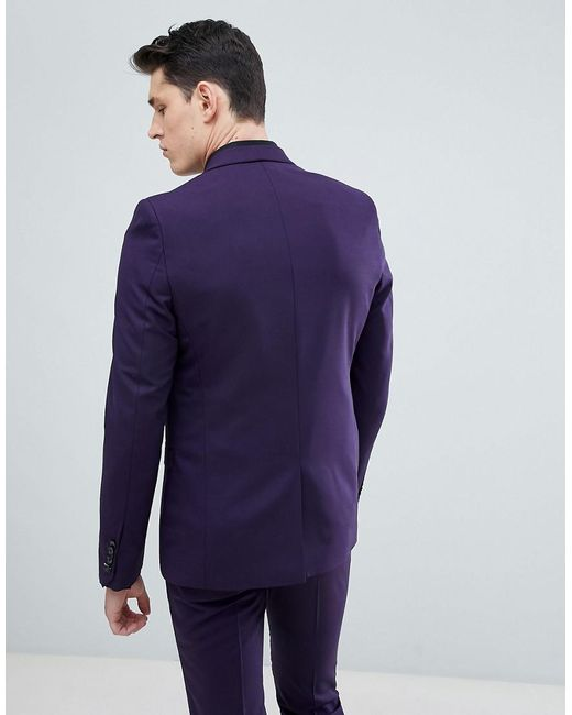 9aea3717e933 ... Noose And Monkey - Purple Tall Super Skinny Suit Jacket for Men - Lyst