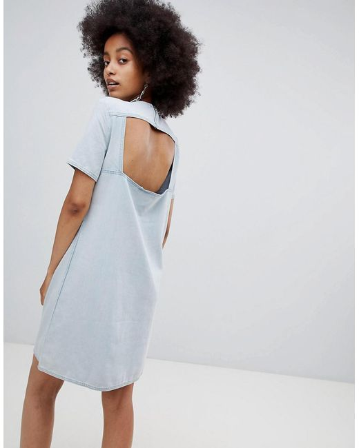 Cheap Monday - Blue Collage Dress With Cutout Back - Lyst