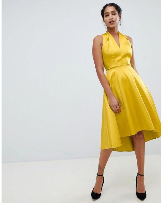 Yellow Flared Dress