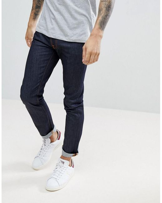 Nudie Jeans - Blue Co Tilted Tor Jeans In Pure Navy for Men - Lyst