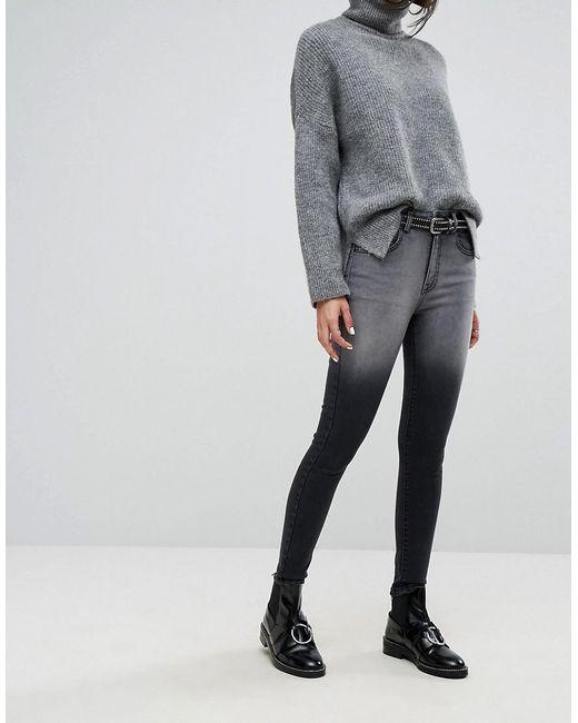 Dr. Denim | Black High Waist Jean With Back Leg Zips | Lyst