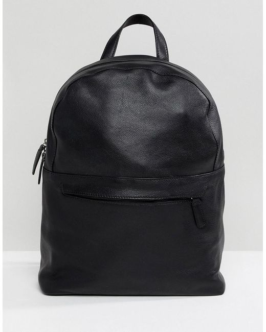 Clearance Browse ASOS DESIGN Backpack In Faux Leather In With Silver Zips And Foil Emboss Outlet View Jb0CHPHMrO
