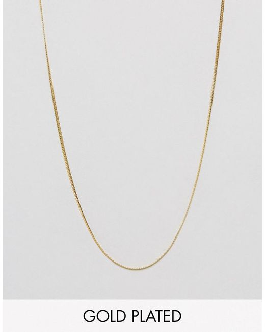 ASOS | Metallic Sterling Silver Chain With Gold Plating for Men | Lyst
