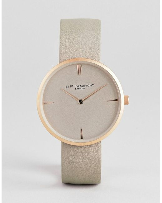 Elie Beaumont - Pink Eb817.4 Watch With Rose Gold Case And Stone Strap for Men - Lyst