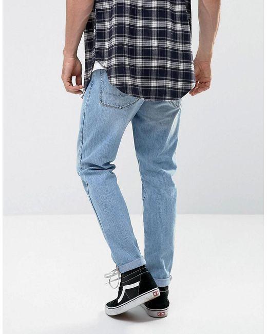 Jeans Recyclés Conique Dans La Lumière De Cru De Lavage Lumière Bleu - Laver Cru Asos H11gb7pONC