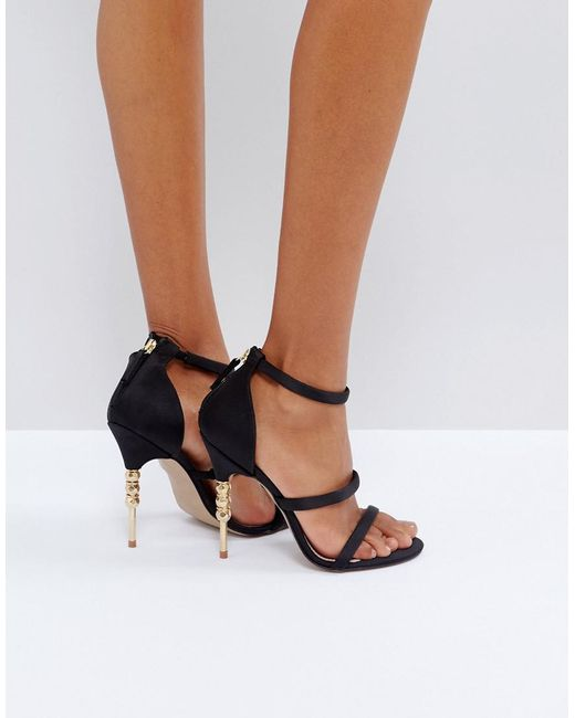Hettie Black High Heel Wedge Sandals By KG Kurt Geiger 1j9adXiD