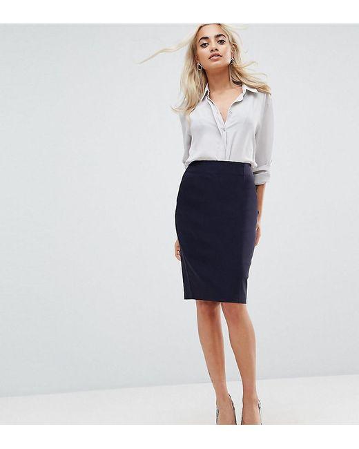 848dc4420613b ASOS - Blue Asos Design Petite High Waisted Pencil Skirt - Lyst ...