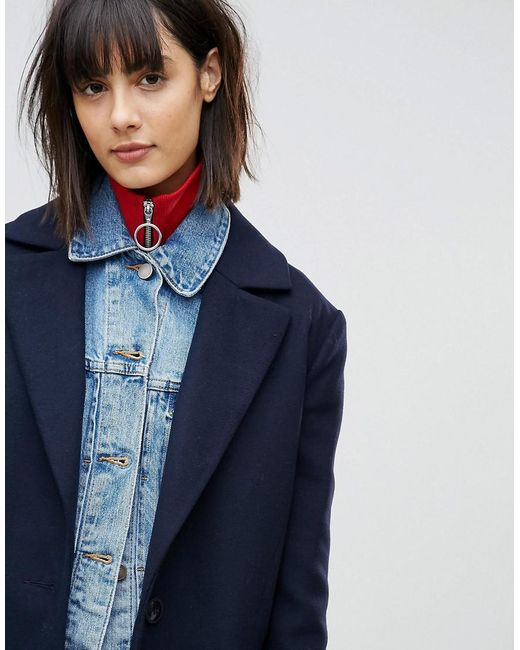 ASOS | Red Rib Neck Band With Ring Pull | Lyst