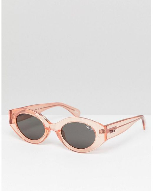 42075170b4ec Quay - Pink See Me Smile Oval Sunglasses for Men - Lyst ...