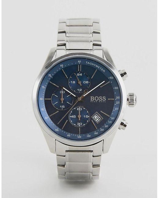 8b12ba30e BOSS - Black 1513478 Grand Prix Bracelet Watch for Men - Lyst ...