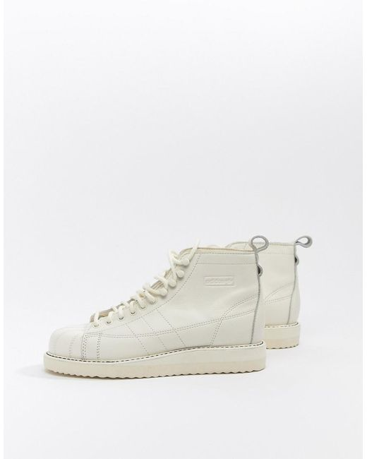 Lyst Adidas Originals Superstar Boot Sneakers In Triple White In White