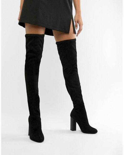 67187097e8b ASOS - Black Kalika Thigh High Boots - Lyst ...