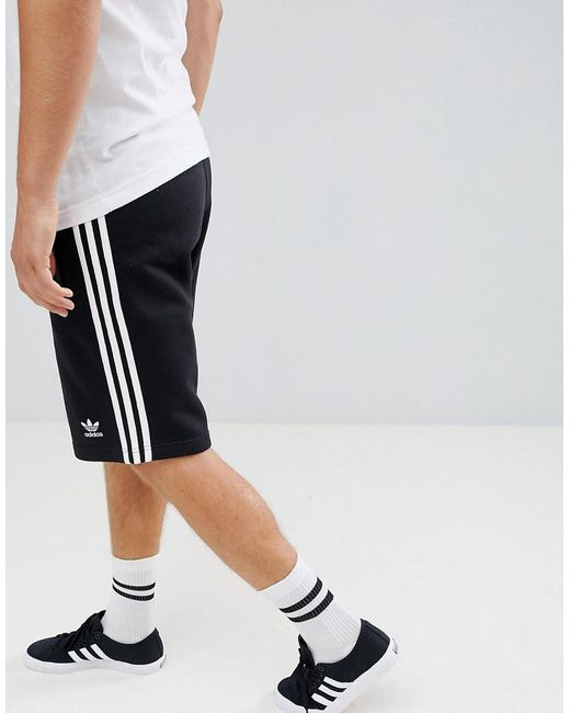 Adidas Originals - 3-stripe Jersey Shorts In Black Dh5798 for Men - Lyst