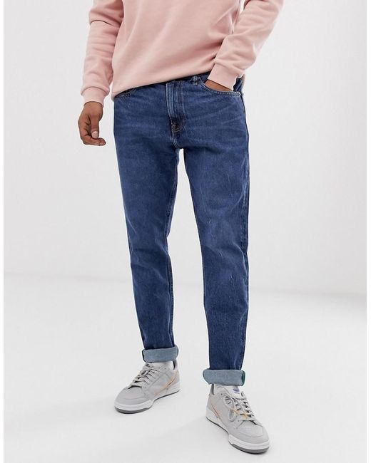f7180903 Tommy Hilfiger - Blue Mordern Tapered Jeans In Mid Wash for Men - Lyst ...