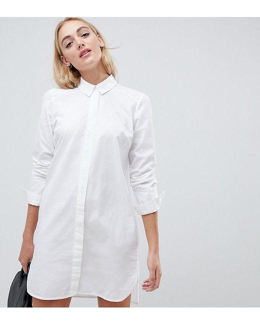 54a69254952 ASOS - White Cotton Shirt Dress - Lyst ...