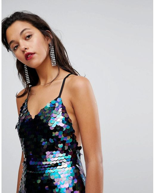 Allover Embellished Detail Mini Dress - Black Club L Sale Supply Sale Top Quality FEaSu