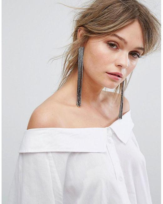 New Look | Metallic Statement Tassel Earrings | Lyst