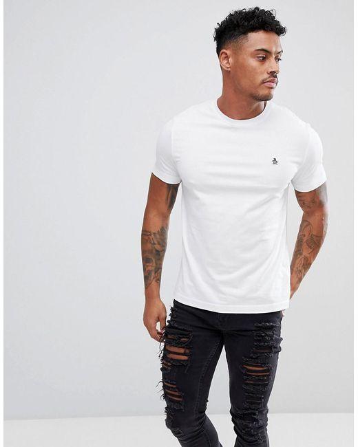 Original Penguin - Small Logo T-shirt Slim Fit In White for Men - Lyst