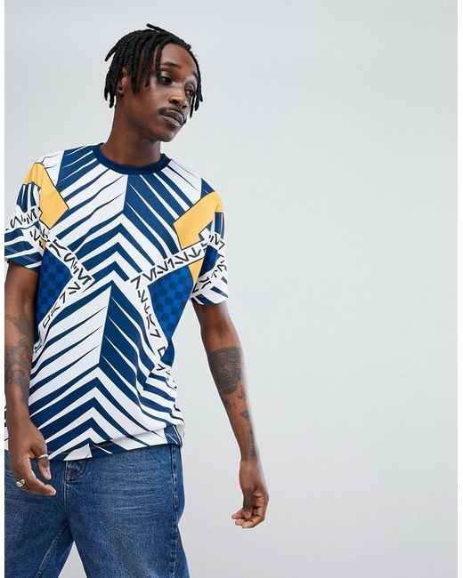 ASOS - Blue X Star Wars Relaxed T-shirt With Printed Panels And Tape for Men - Lyst