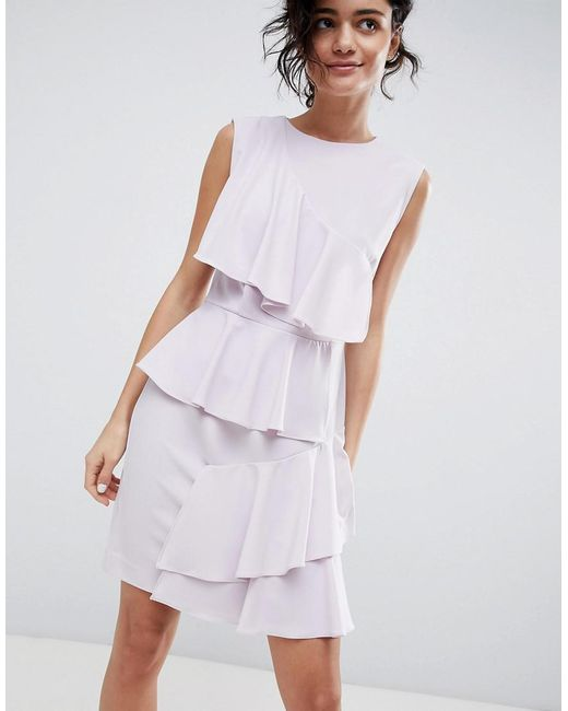 2nd Day - Purple 2ndday Tiered Ruffle Dress - Lyst