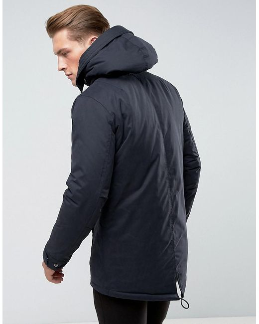 97f178edcb ... Only & Sons - Blue Padded Parka With Wire Frame Hood for Men - Lyst