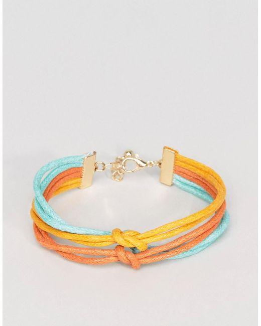 ASOS | Triple Bracelet In Yellow Teal And Orange for Men | Lyst