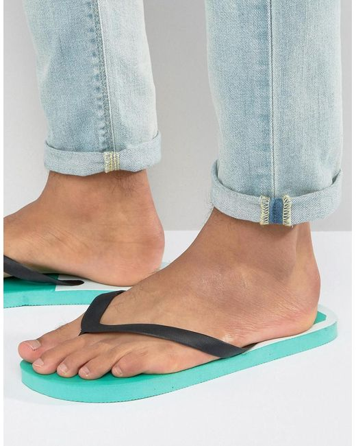 Abuze London - Green Abuze Wasp Flip Flops for Men - Lyst