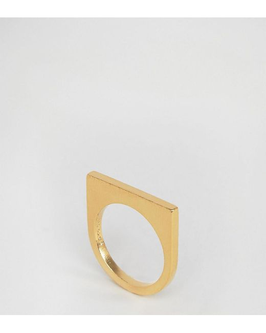 Pieces | Metallic & Julie Sandlau Gold Plated Janu Minimal Ring | Lyst