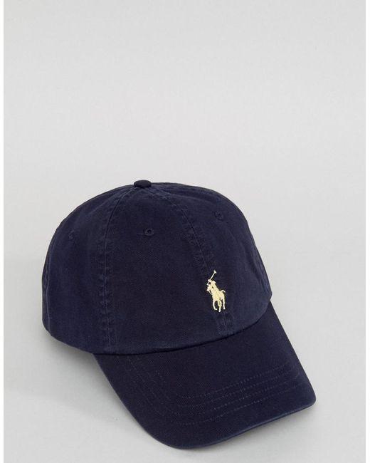 786773d1ea08 ... Polo Ralph Lauren - Blue Casquette de baseball avec logo joueur de polo  blanc for Men