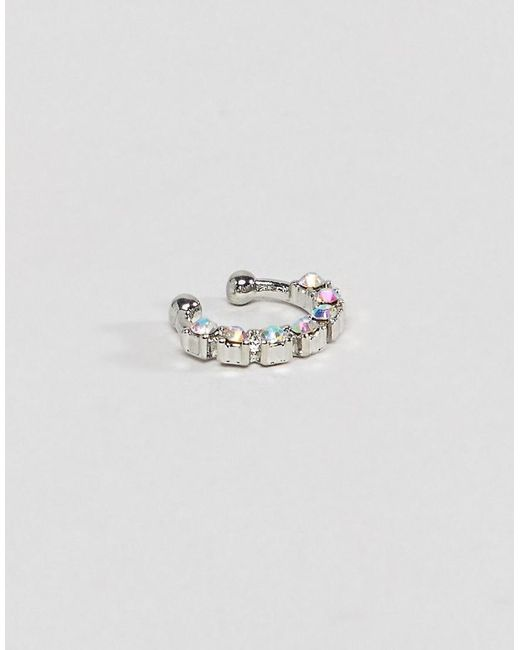 ASOS - Metallic Design Iridescent Mermaid Jewel Faux Nose Ring - Lyst