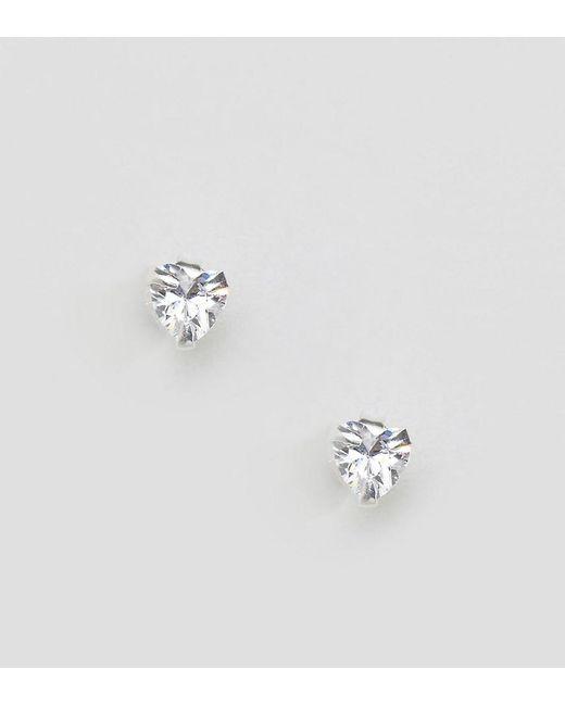 Kingsley Ryan Metallic Sterling Silver Heart Stud Earrings Lyst