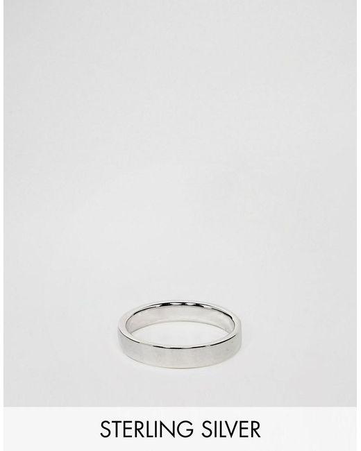 ASOS - Metallic Sterling Silver Ring for Men - Lyst