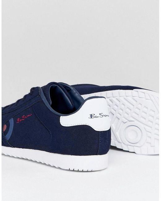 Ben Sherman Retro Target Sneakers Navy Suede 7zuuHhUoh