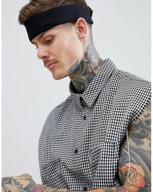 ASOS - Bandana In Black Organic Cotton for Men - Lyst