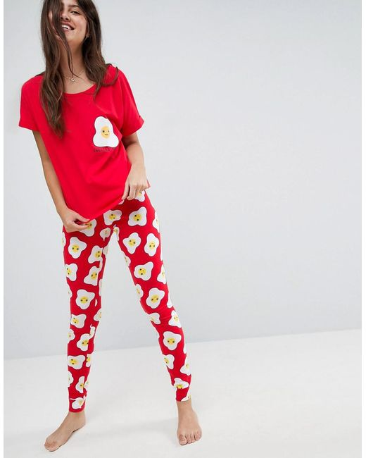 ASOS | Eggstra Tired Tee & Legging Pyjama Set | Lyst