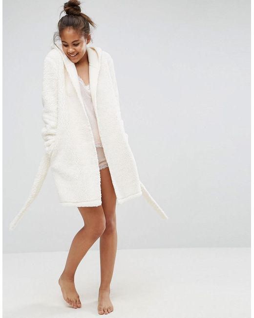 Lyst - Asos Fluffy Robe With Ears