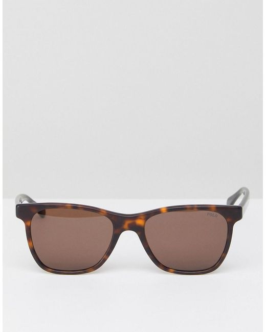 fe306885bcf5 Lyst - Polo ralph lauren 0ph4128 Square Sunglasses In Tort 54mm in Brown  for Men