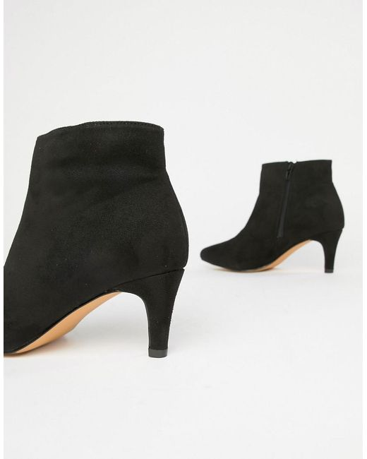 97dc0ce6d766 ... London Rebel - Black Wide Fit Kitten Heel Ankle Boots - Lyst