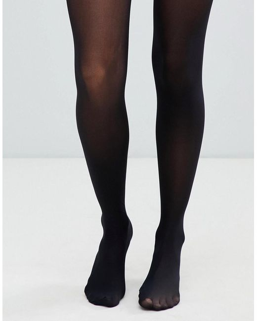 f6b871c047b ASOS - Black Recycled 40 Denier Tights With Bum Tum Thigh Support - Lyst ...