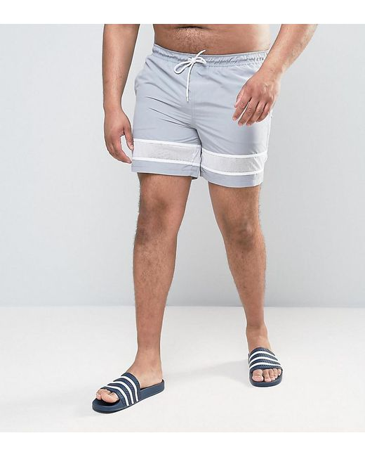 PLUS Swim Shorts In Dark Grey With Neon Yellow Drawcord Mid Length - Grey Asos Clearance Footlocker Free Shipping Get To Buy Buy Cheap Nicekicks MUTeOq6G