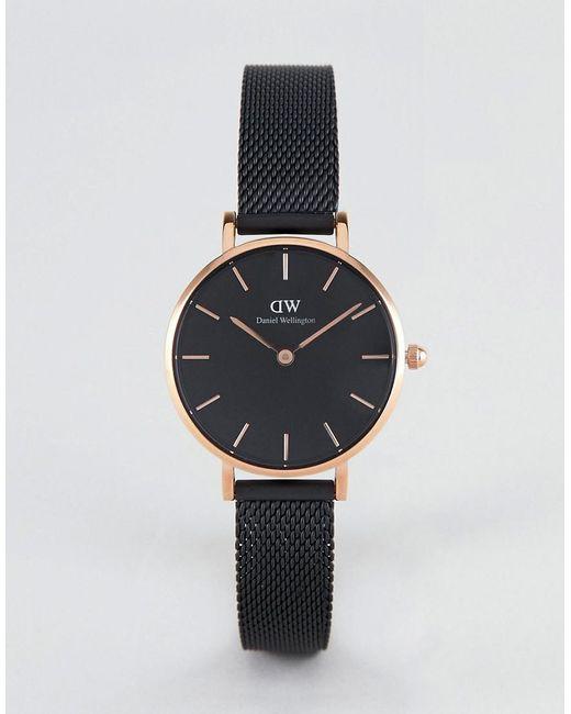 b094bd4c4abb Daniel Wellington - Petite Ashfield Leather Watch In Black   Rose Gold 28mm  for Men ...