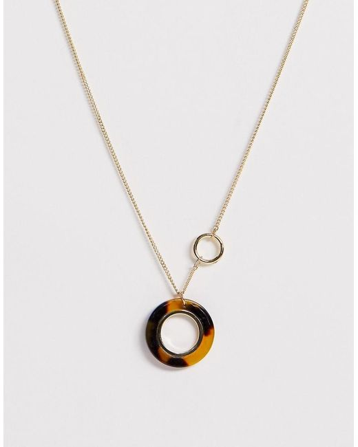 Pieces Brown Circle Tortoise Necklace