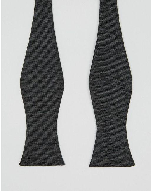 ASOS - Self Wedding Tie Bow Wedding Tie In Black for Men - Lyst
