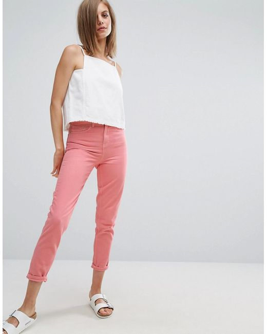 Elsa Pink Mom Jeans - Pale pink Wåven gOEH9h