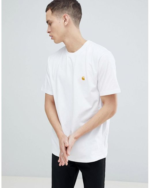 Carhartt WIP - Black Chase Fit T-shirt for Men - Lyst